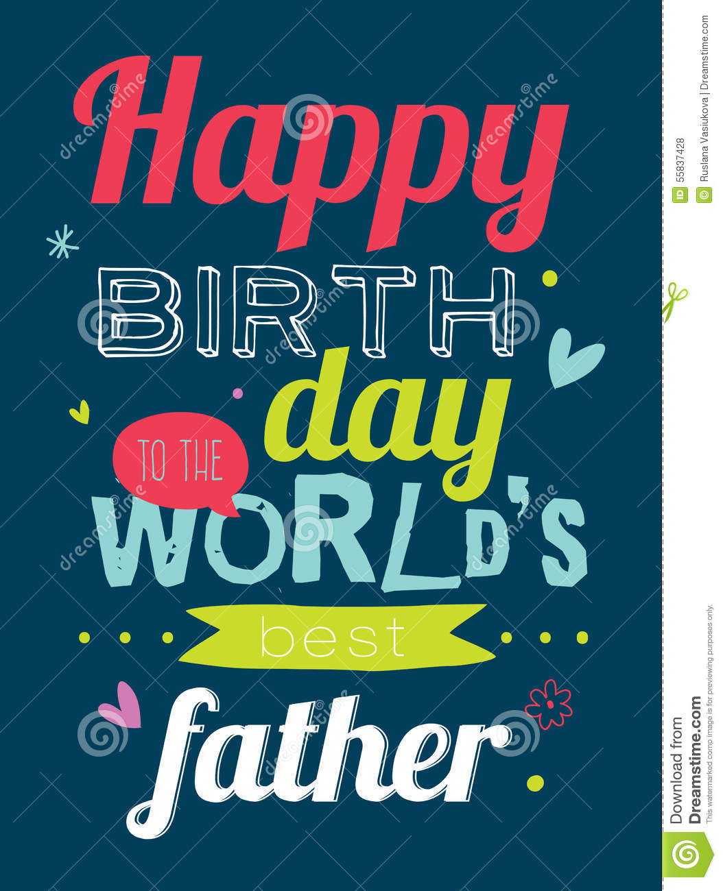 B day poster designs - Happy Birthday To Best Father