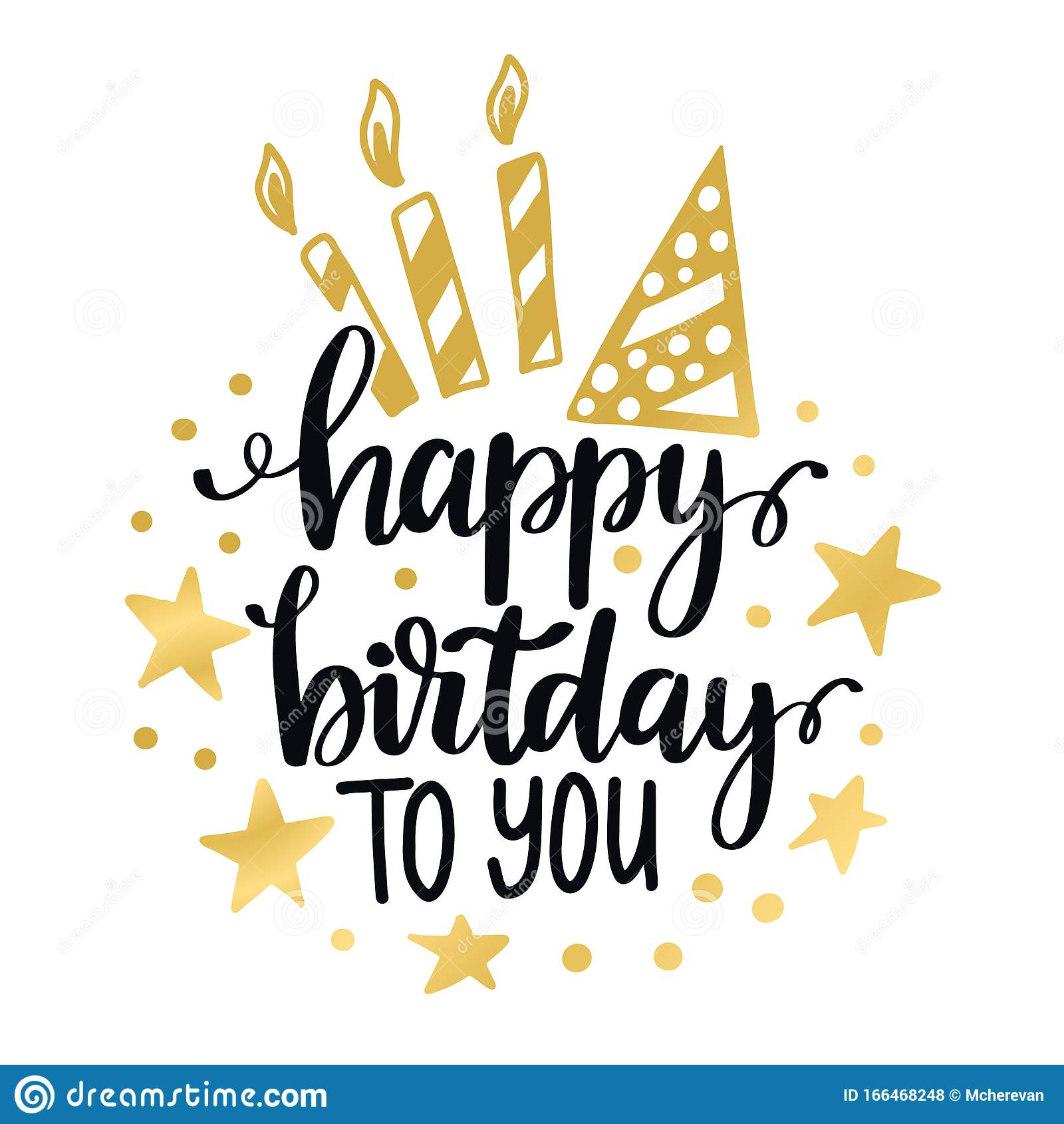 happy birthday to you calligraphy quote lettering text