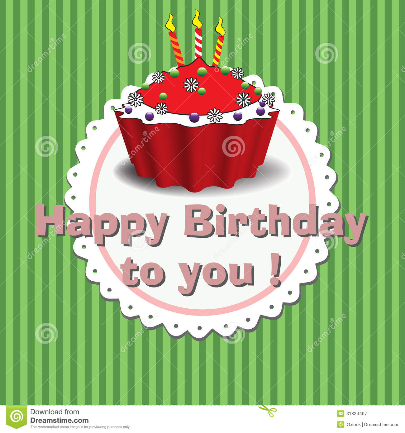 Happy Birthday To You Stock Vector. Image Of Design