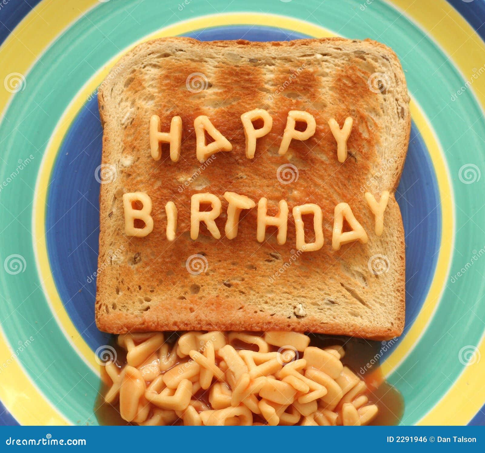 happy birthday toast Happy birthday toast stock photo. Image of snack, health   2291946 happy birthday toast