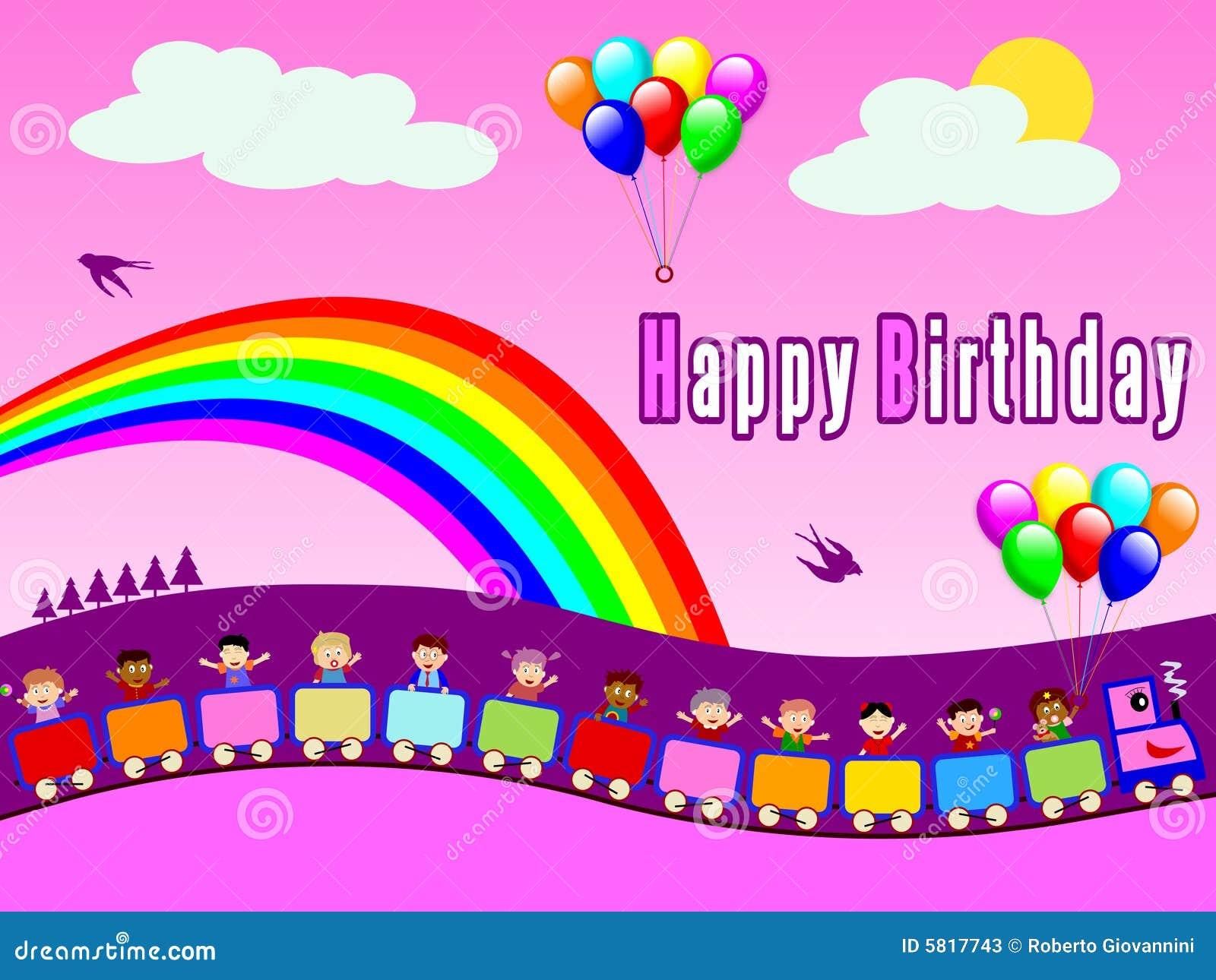 happy birthday train girl stock illustration illustration of