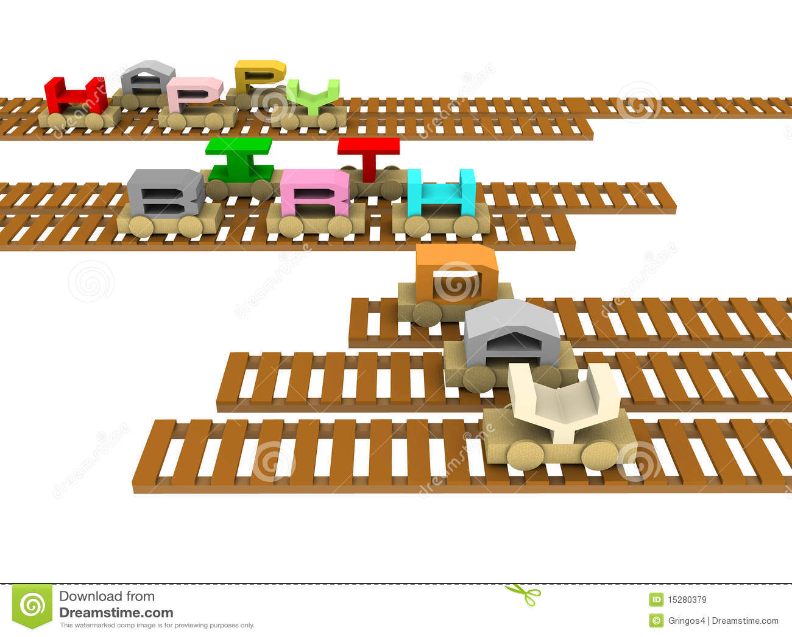 Happy Birthday Train On Rails Royalty Free Stock Images - Image ...
