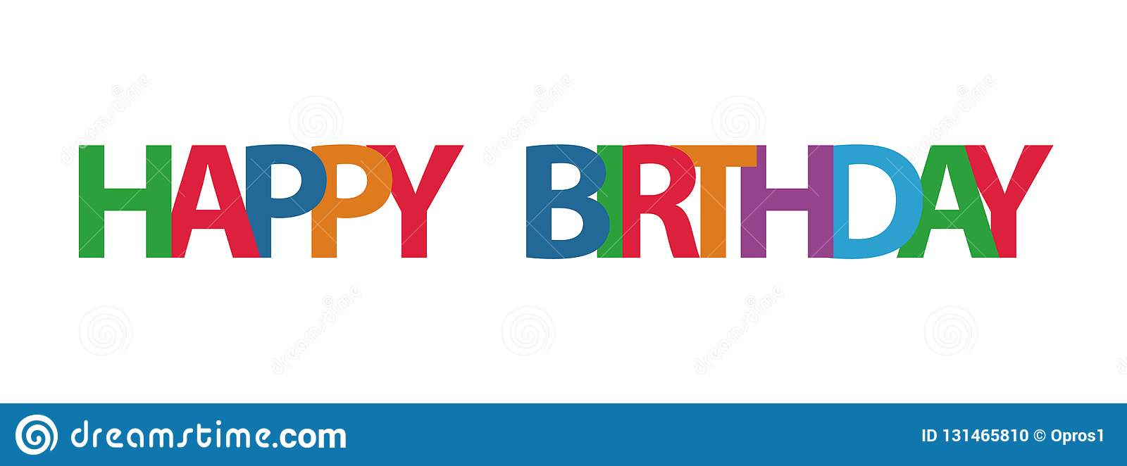 Happy Birthday Typographic Vector Design For Greeting Cards Print And Cloths