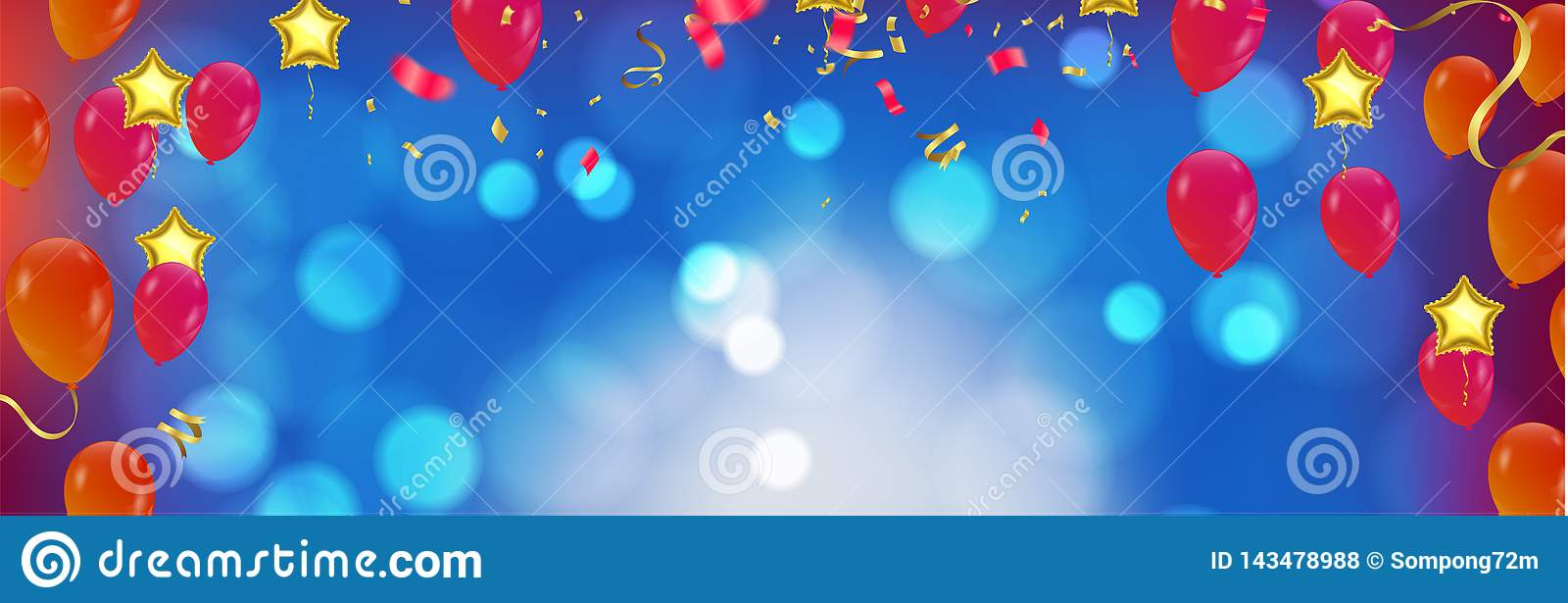 Happy Birthday typography vector design for greeting cards and poster with balloon in the style of cutouts