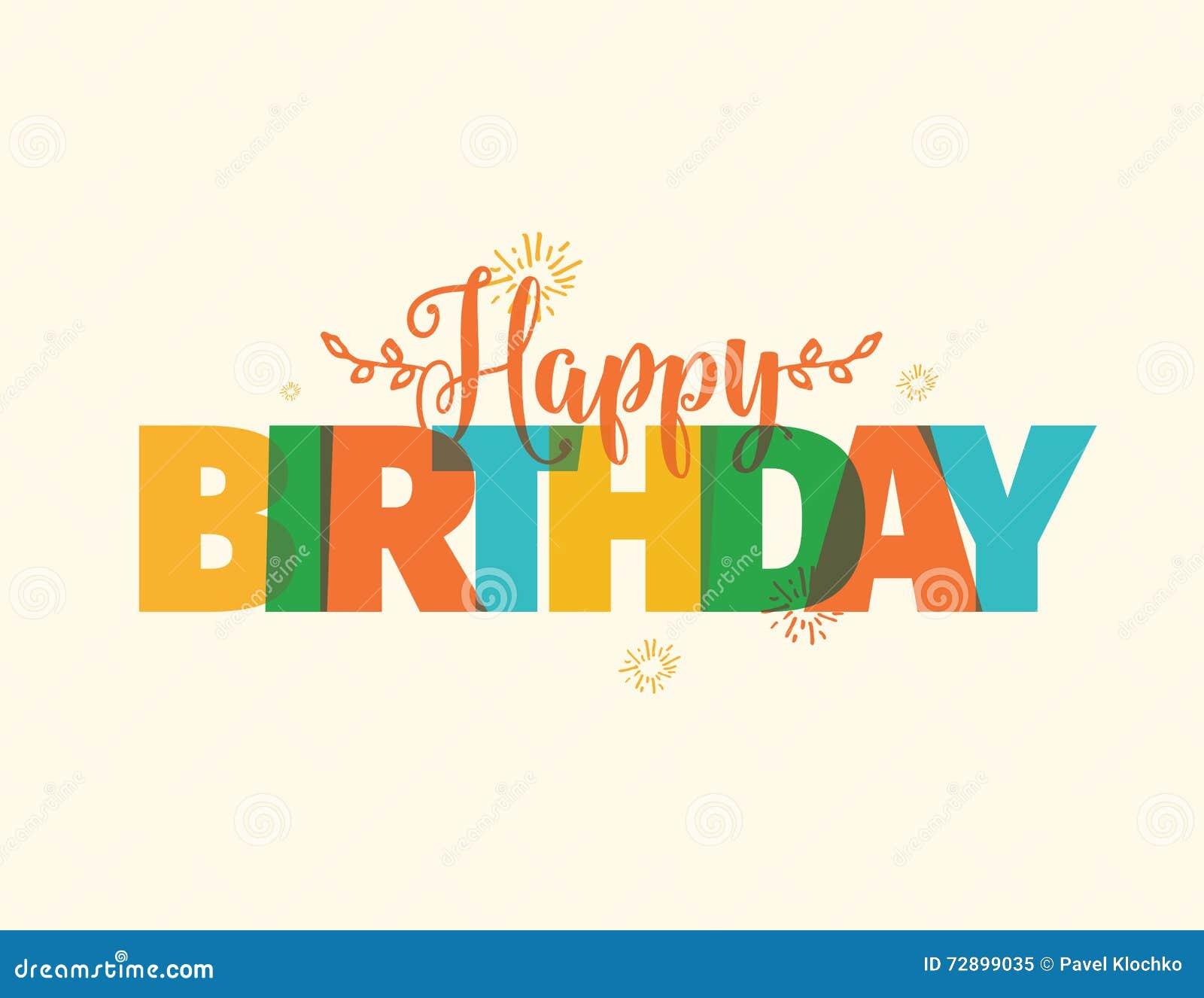 happy birthday typography vector design stock vector image 72899035