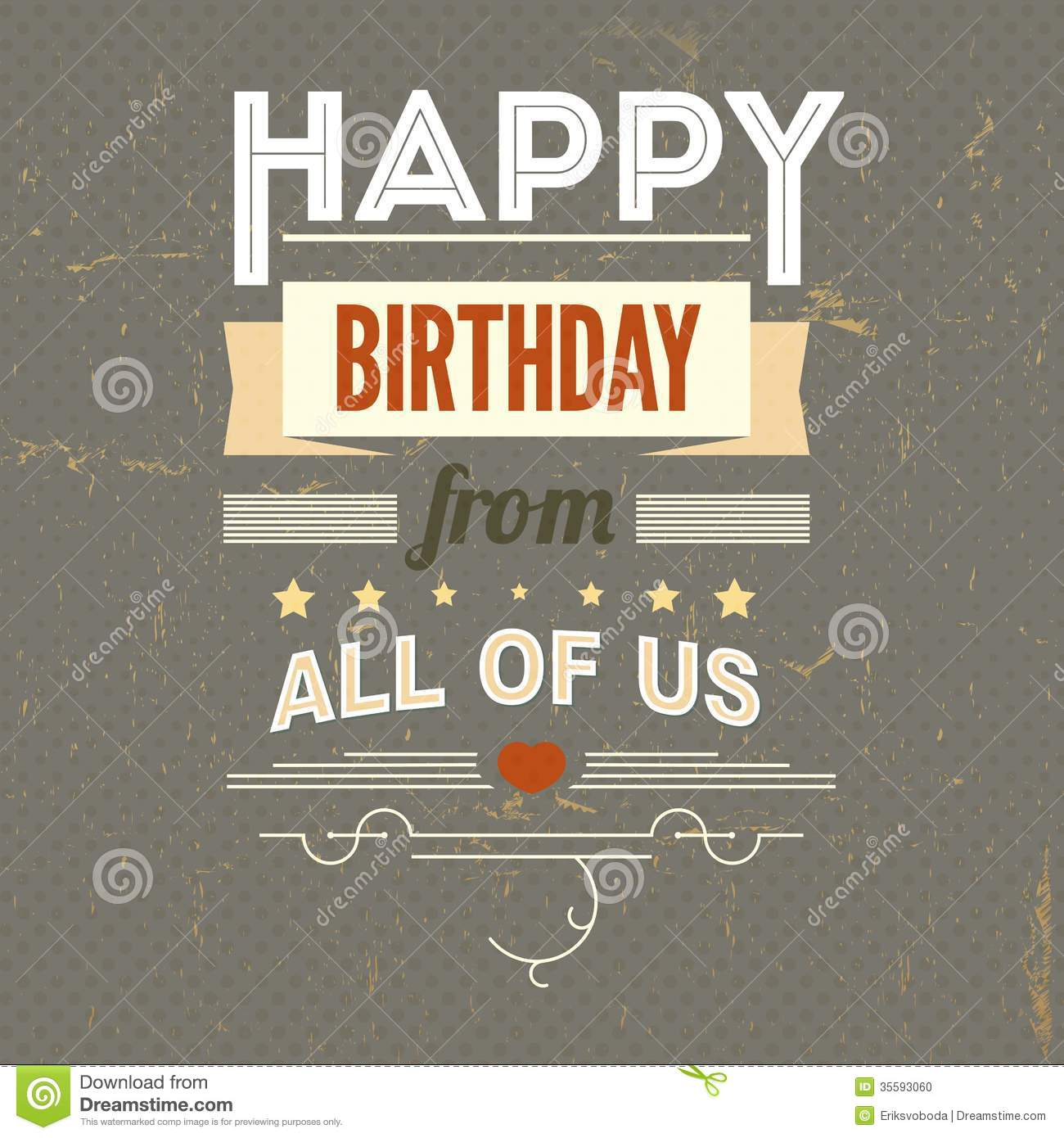 happy birthday vintage poster grunge stock vector illustration