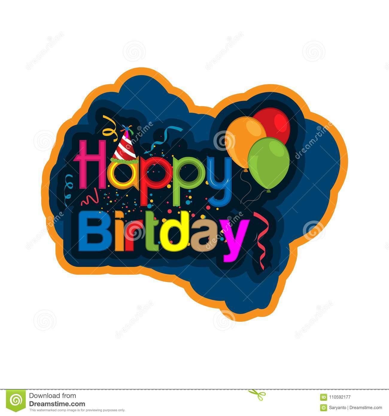 Happy birthday vector design with abstract background