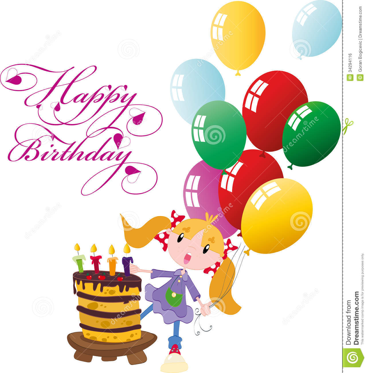 Happy Birthday Royalty Free Stock Image - Image: 34294116