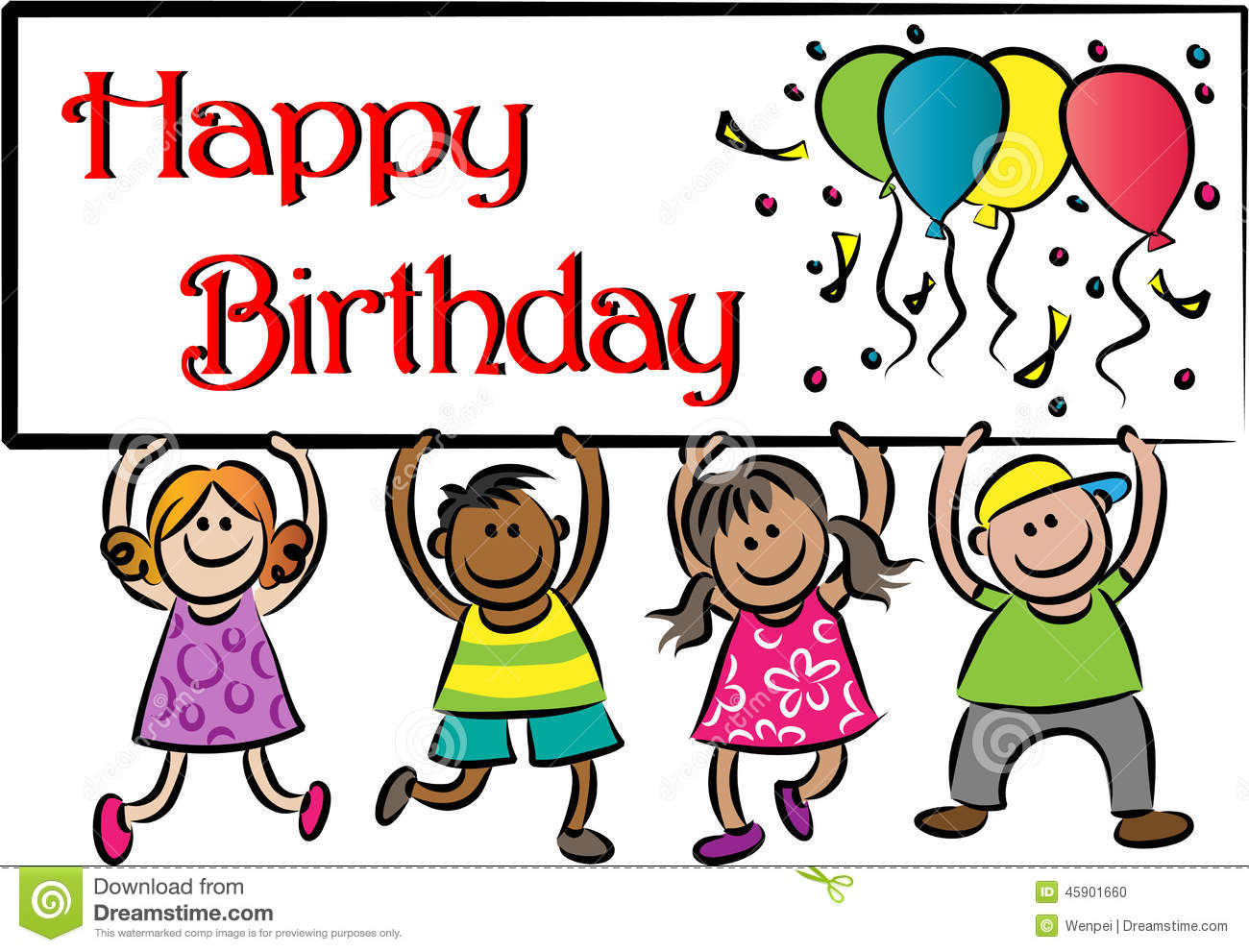 happy birthday stock illustration illustration of sign 45901660