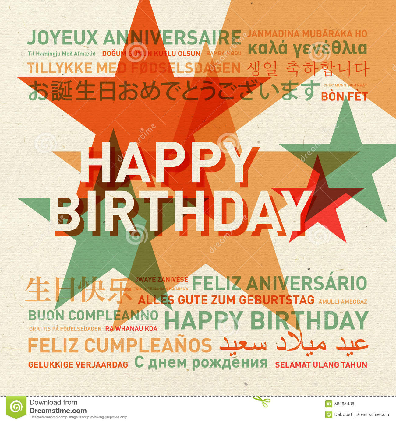 how to say happy birthday in 10 different languages