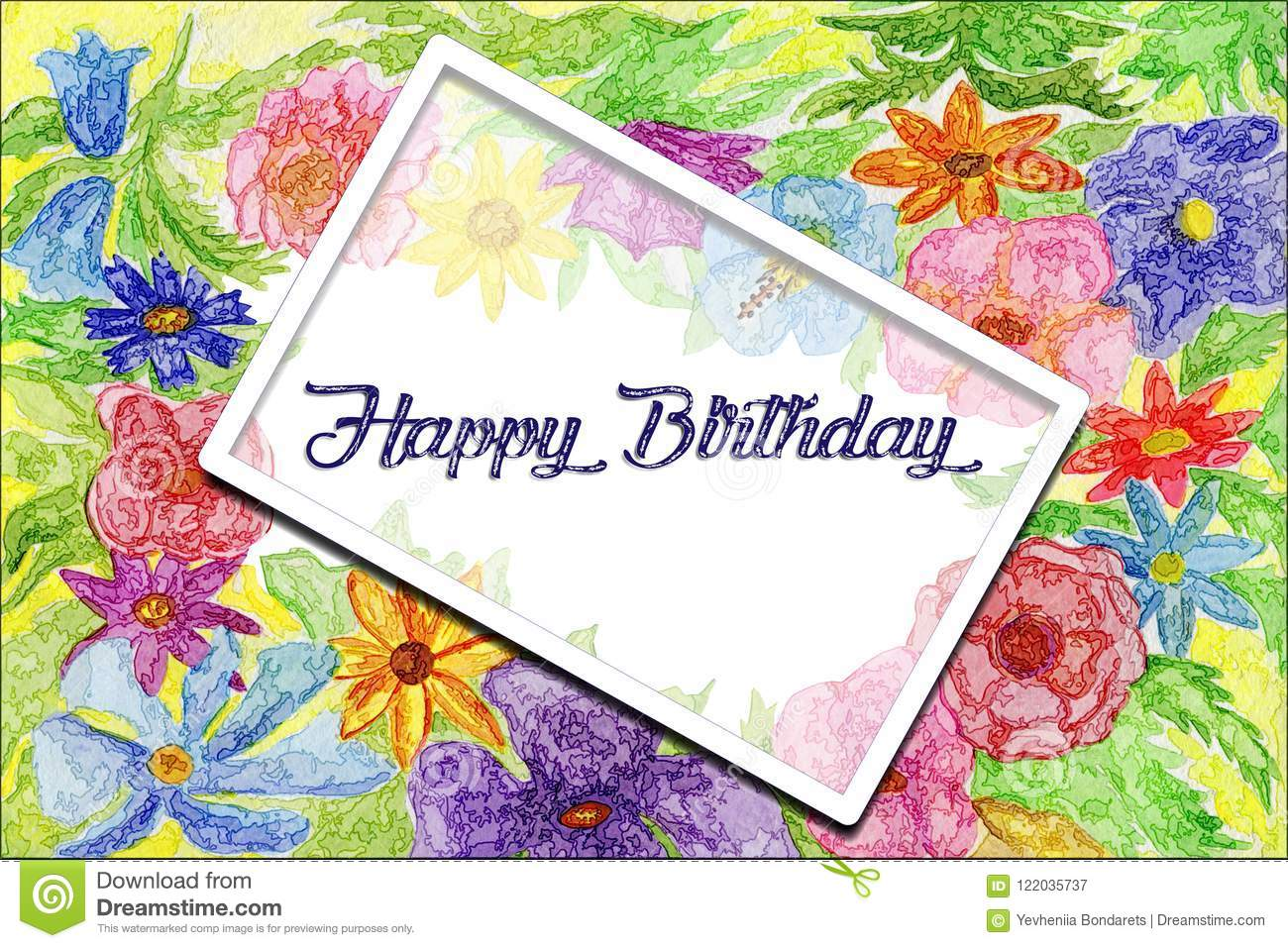 Banner Happy Birthday Flower Abstract Pictures Picturesboss