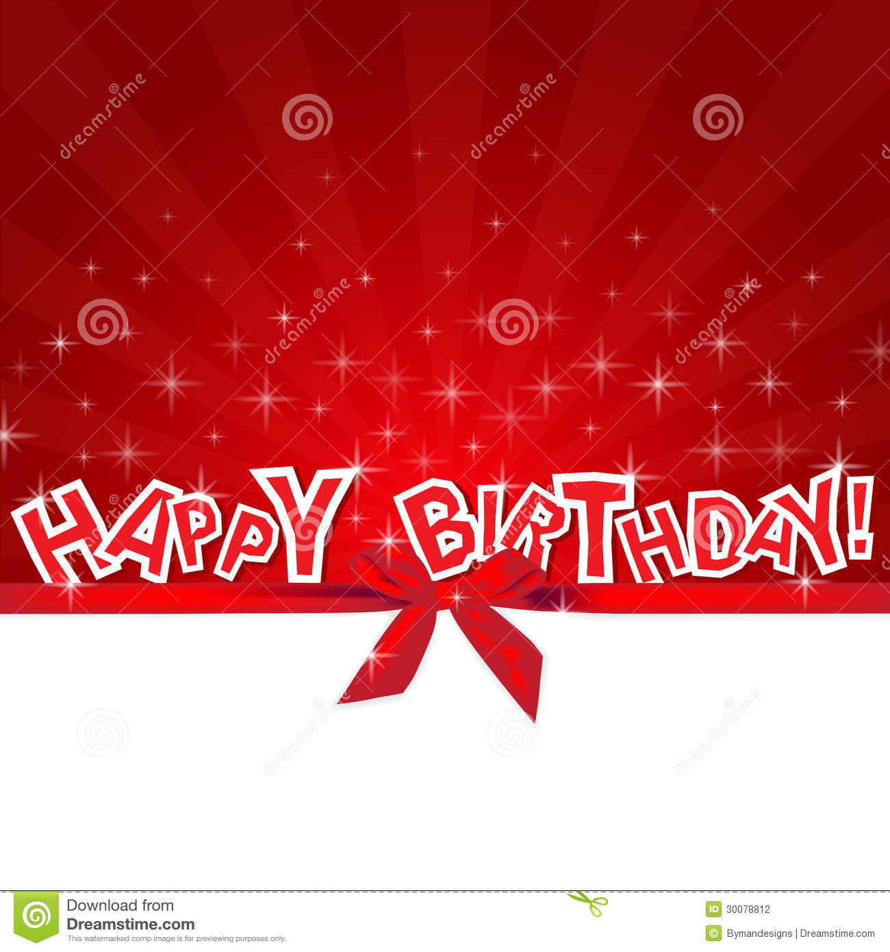 Happy birthday red card stock photography image 30078812