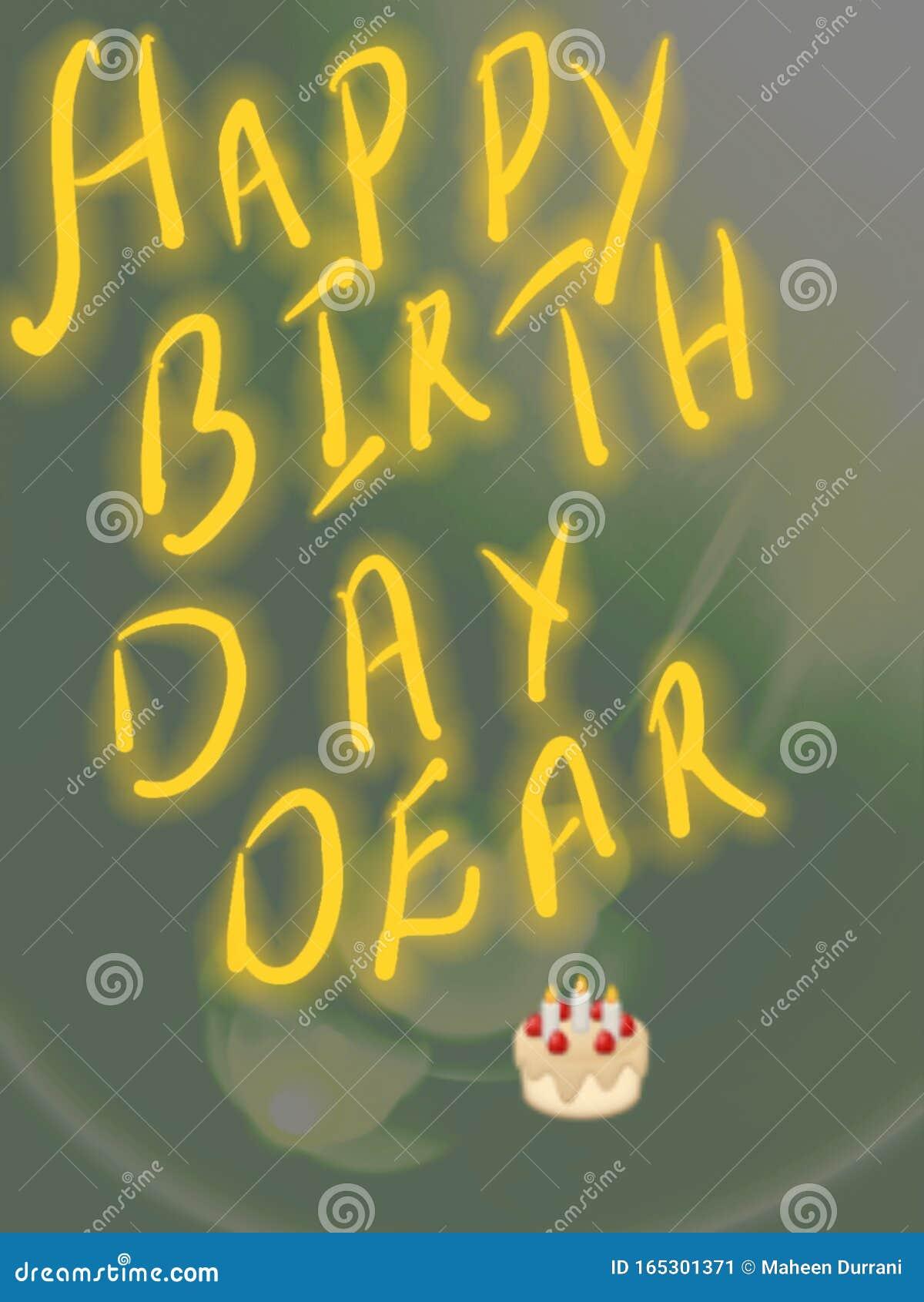 Happy birthday wish to dear once