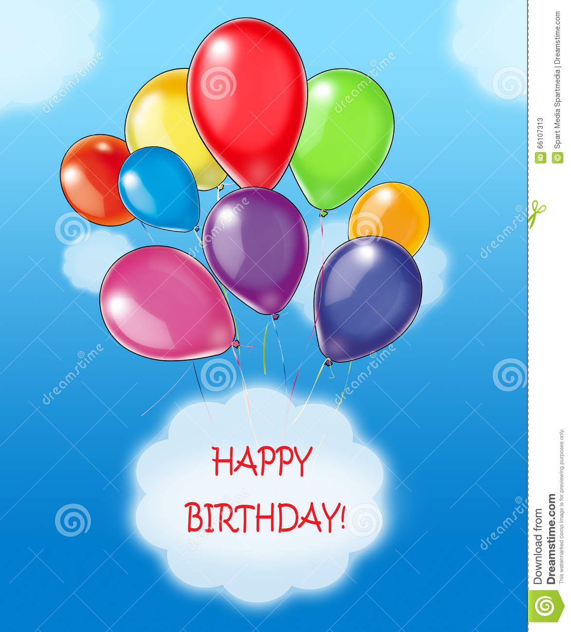 Download Happy Birthday Balloons Kids Wishes Stock Illustration - Illustration of birthday, game: 66107313