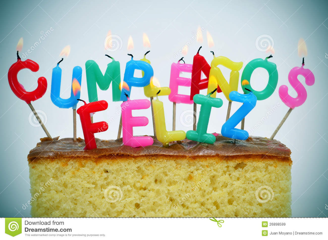 Happy birthday written in spanish stock image image of for Geburtstagsbilder 18