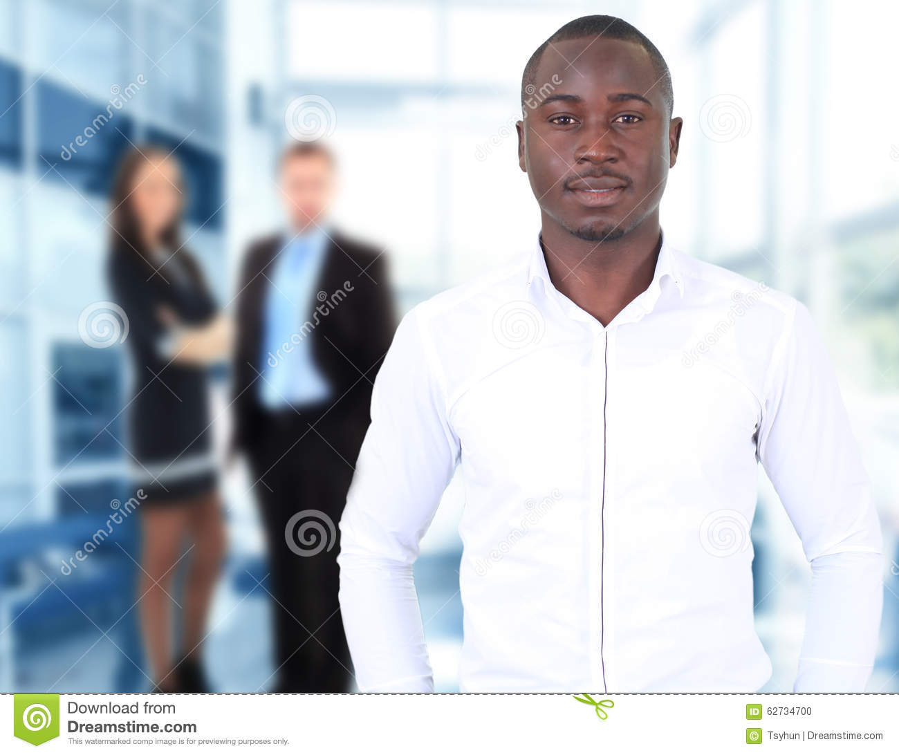 Happy Black Business Man Stock Photo - Image: 62734700