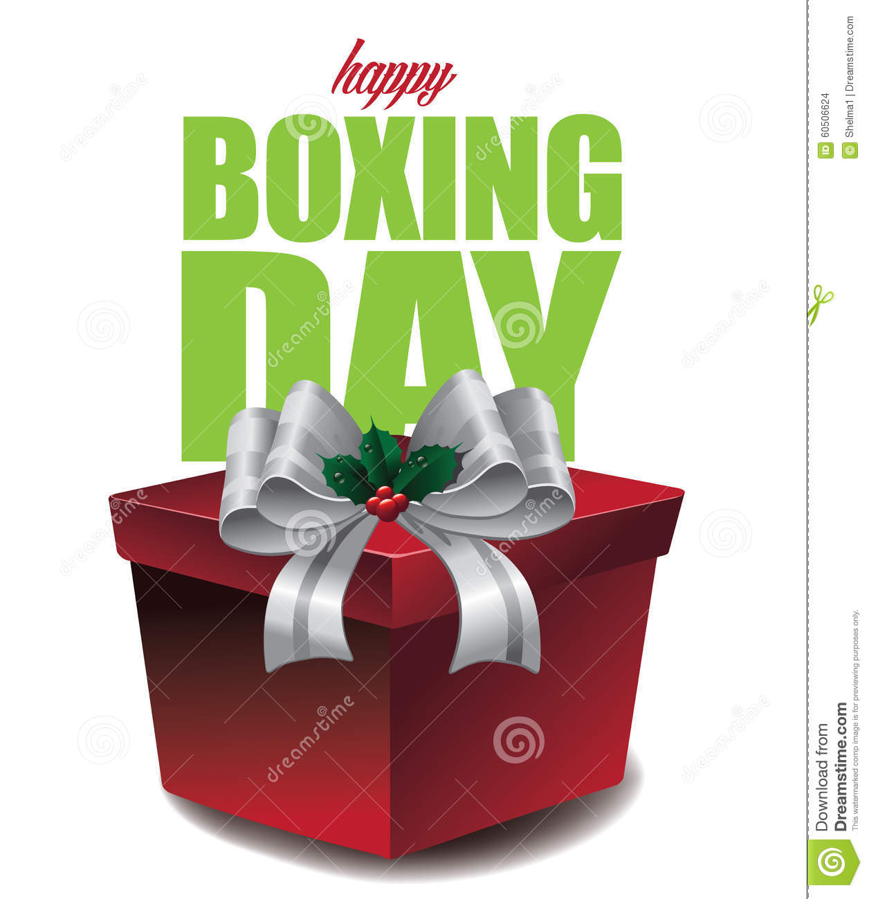 Happy Boxing Day design stock vector. Image of happy ... Boxing Day