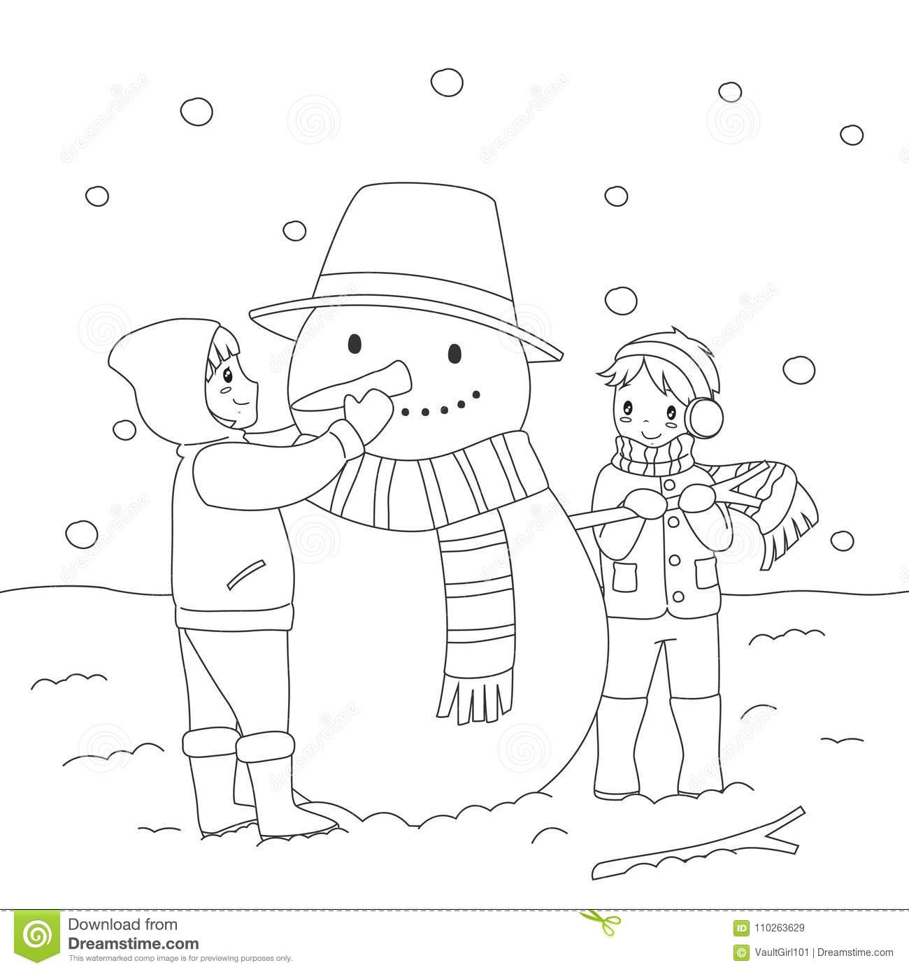 Printable Snowman Coloring Page Craft   Snowman coloring pages ...   1390x1300