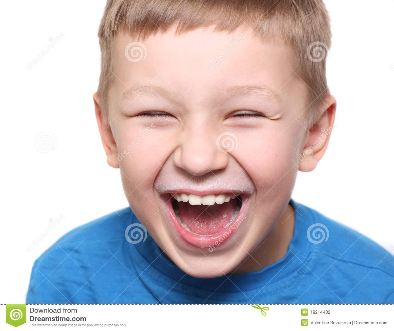 Happy Boy Laughing Stock Photography - Image: 18214432