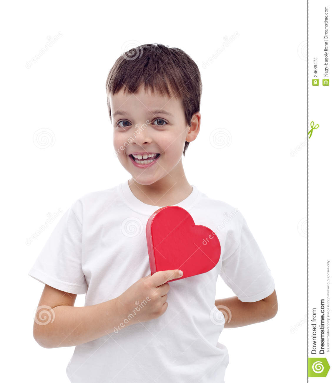 Happy Boy In Love Stock Photo. Image Of Isolated, Heart