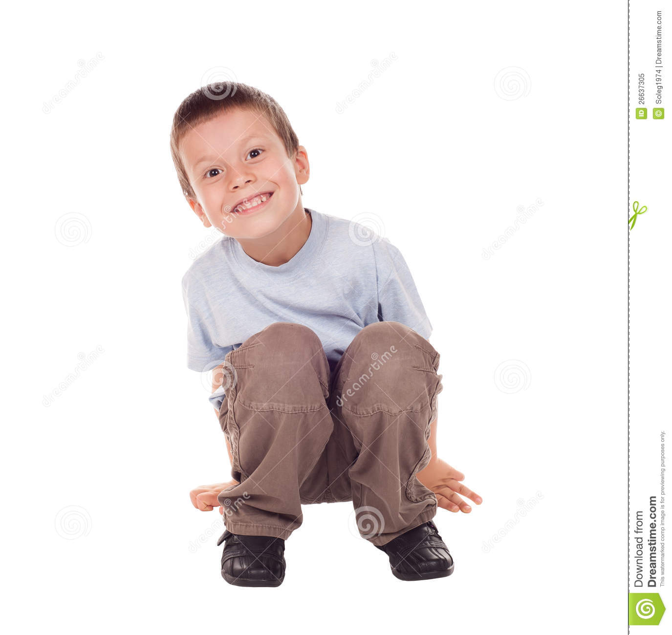 Happy Boy Sit Down Royalty Free Stock Photo - Image: 26637305