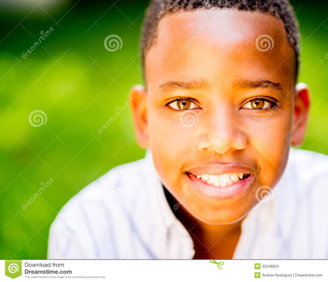 Happy Boy Smiling Stock Photo. Image Of Beautiful