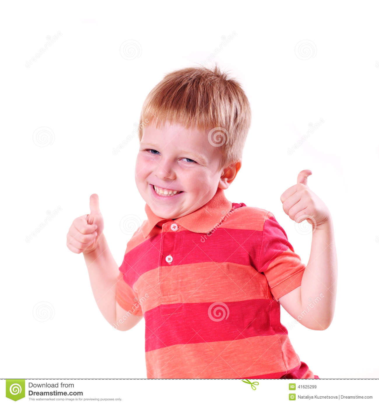 Happy Boy With Super Sign Stock Image. Image Of Isolated