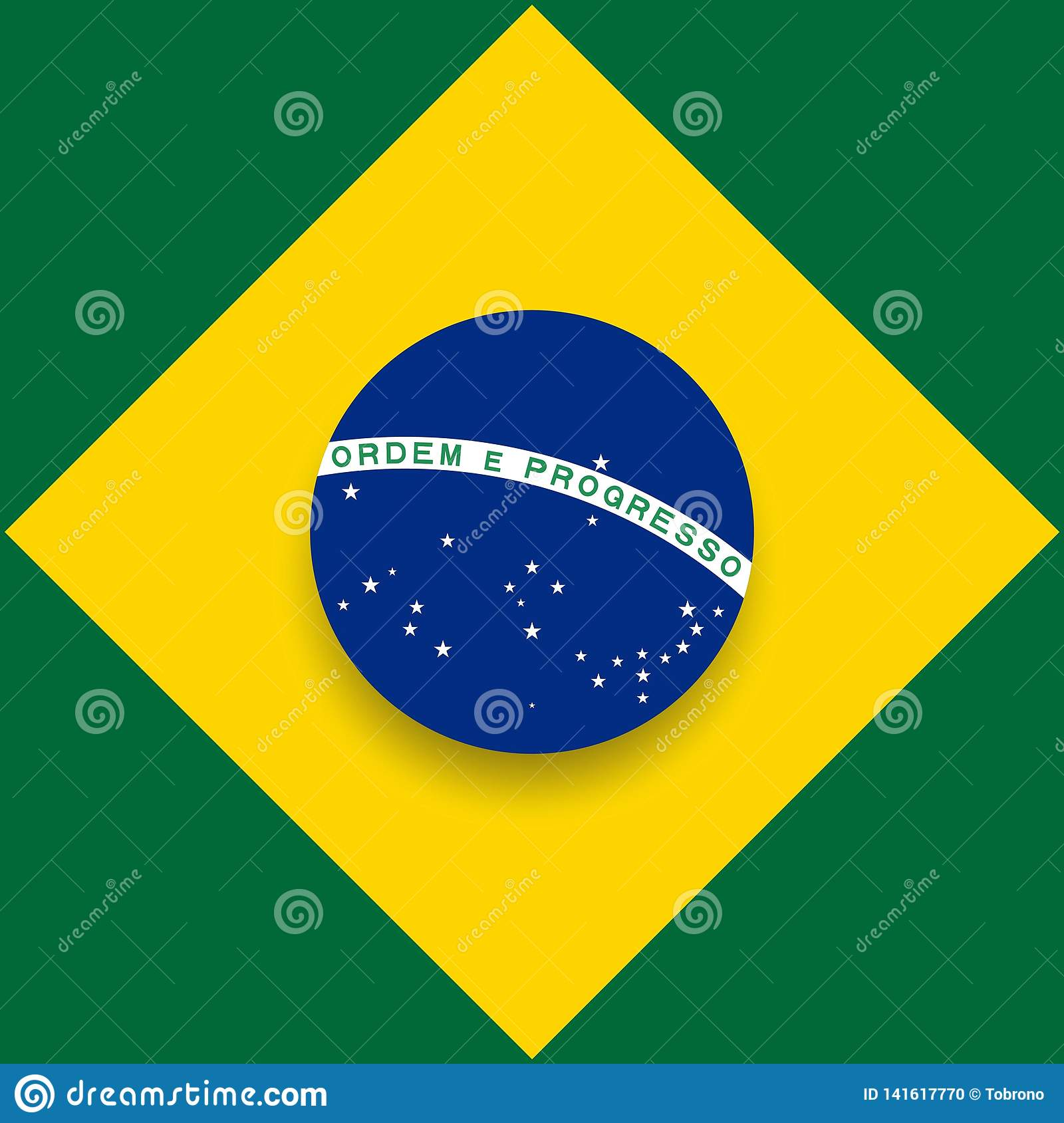 14b8a50ef87 Happy Brazil Independence Day Vector Template Design Illustration brasil  flag background green poster september 7 symbol yellow holiday image card  ...