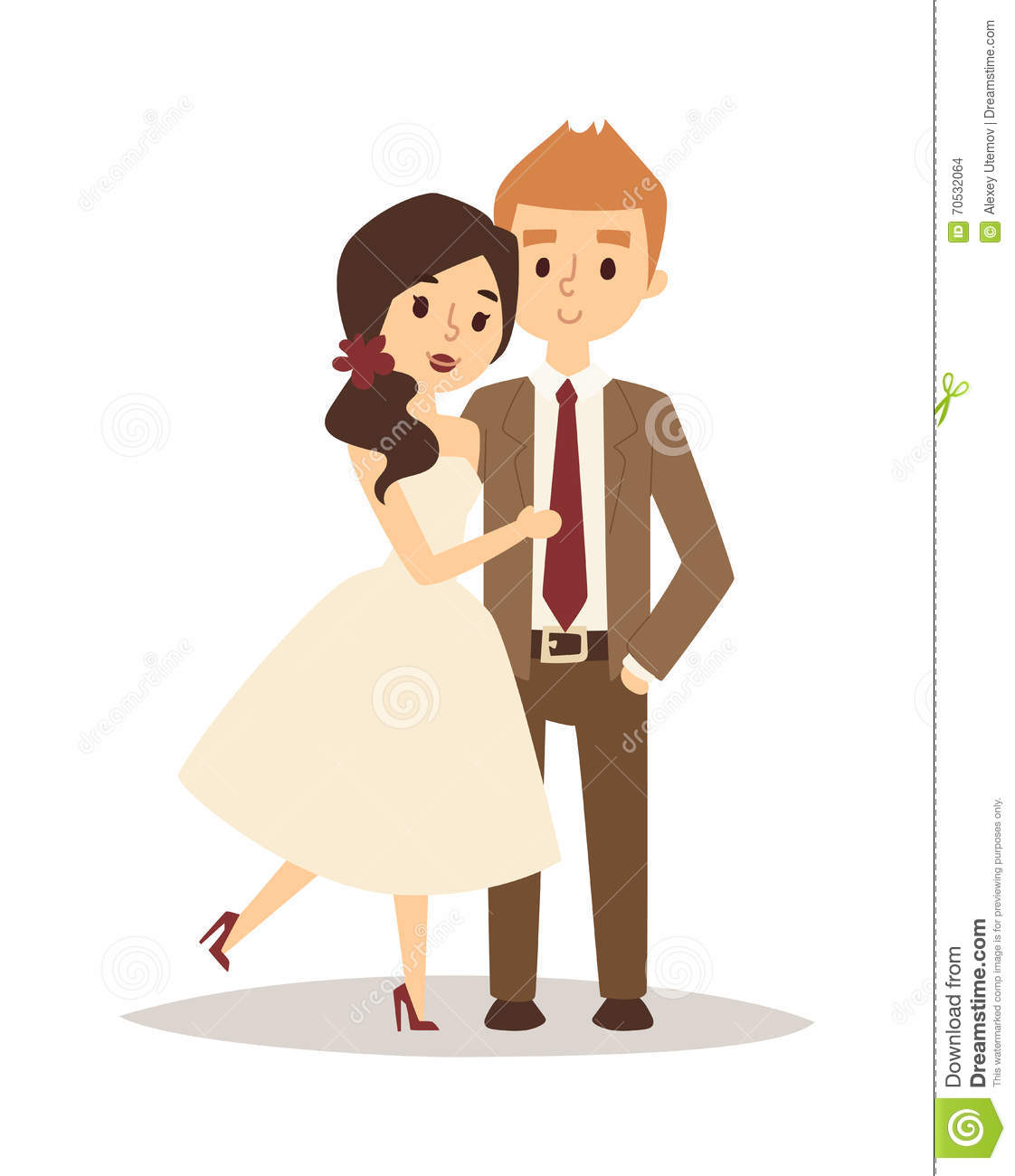 Happy Bride And Groom On Wedding Romance Love Couple