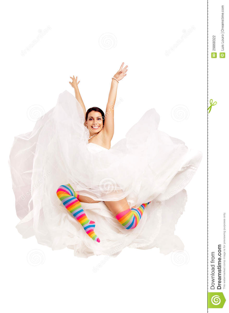 Happy fun bride