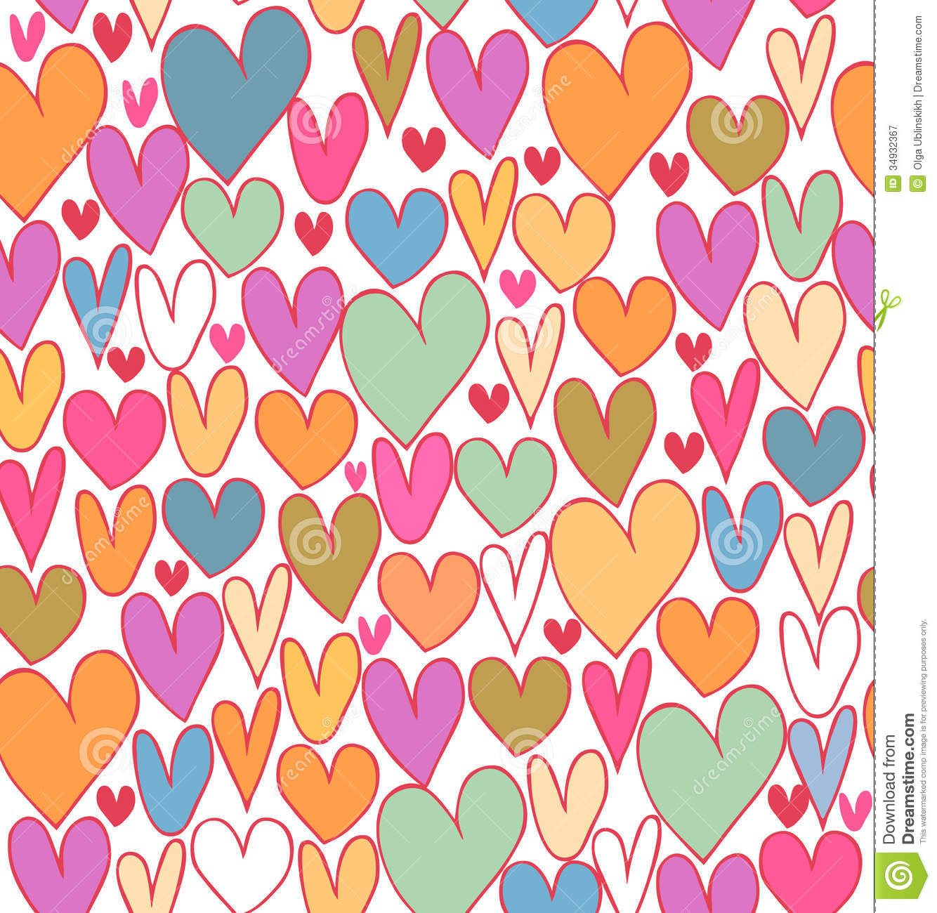 cute photo booth ideas - Happy Bright Abstract Love Pattern Cute Cartoon Backdrop