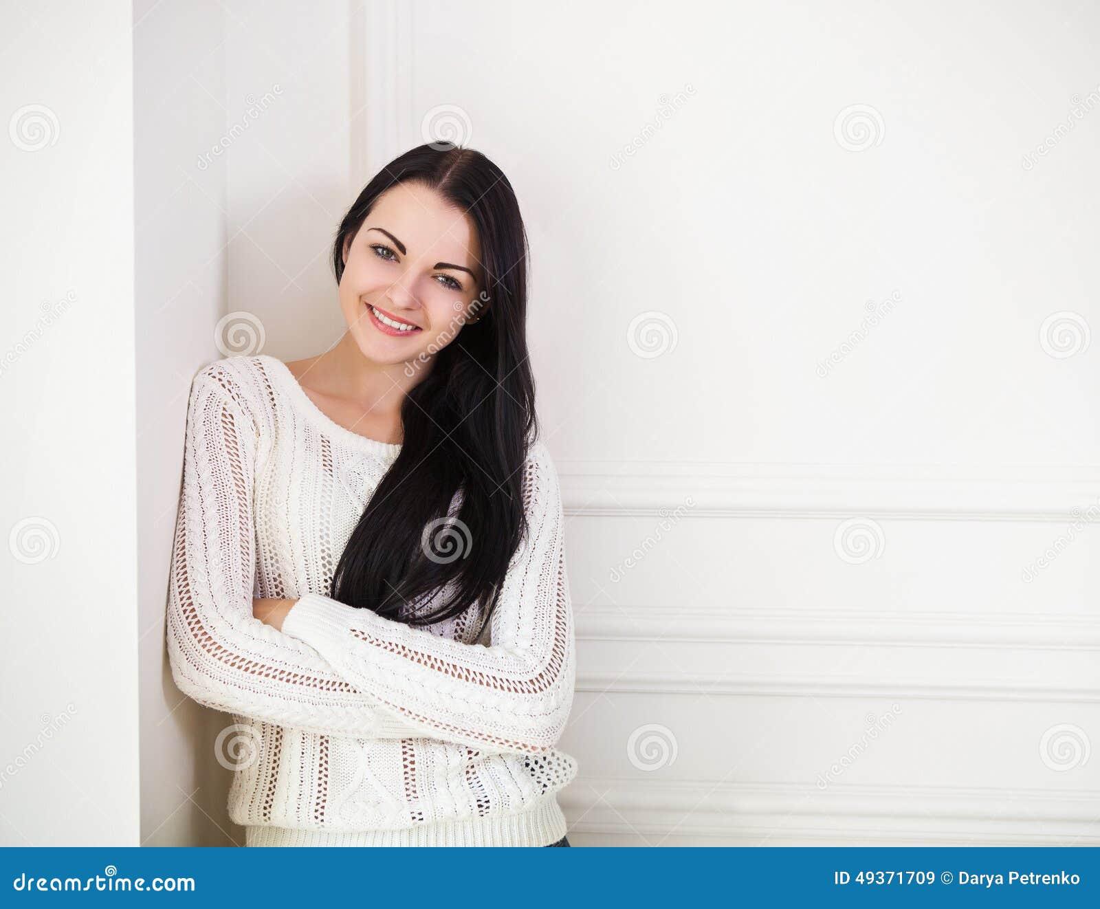 Cute brunette teen