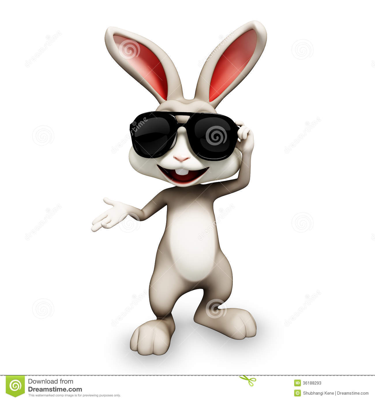 Happy bunny with sunglass