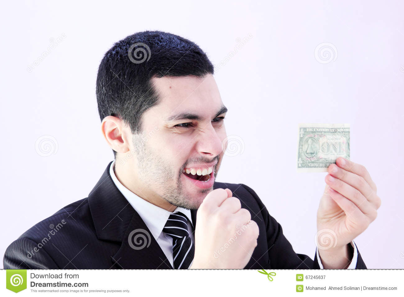 Happy Business Man With Money Stock Photo - Image: 67245637