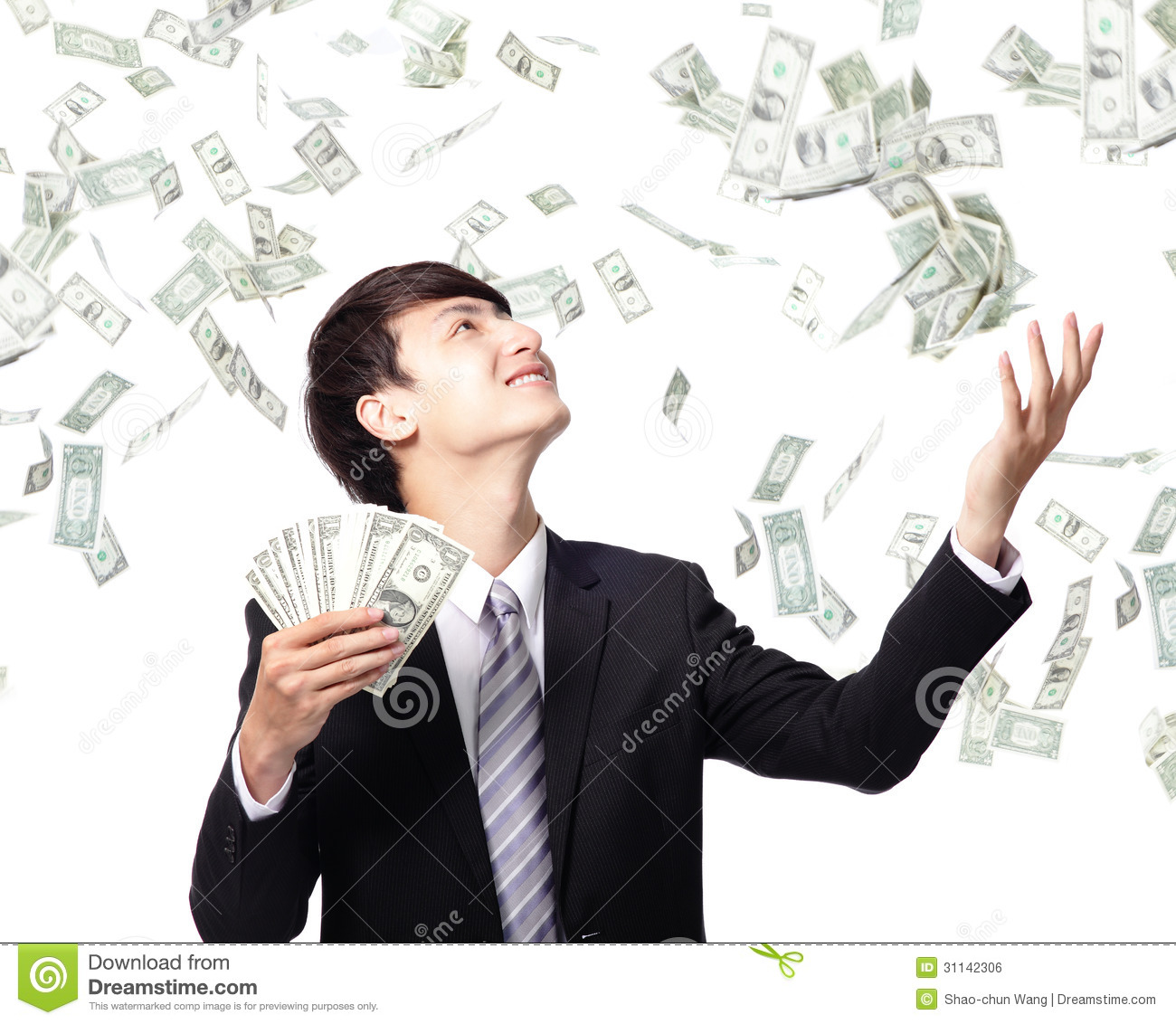 Happy Business Man With Us Money Royalty Free Stock Image ...