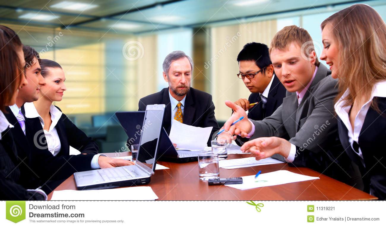 Happy business people stock image image 11319221