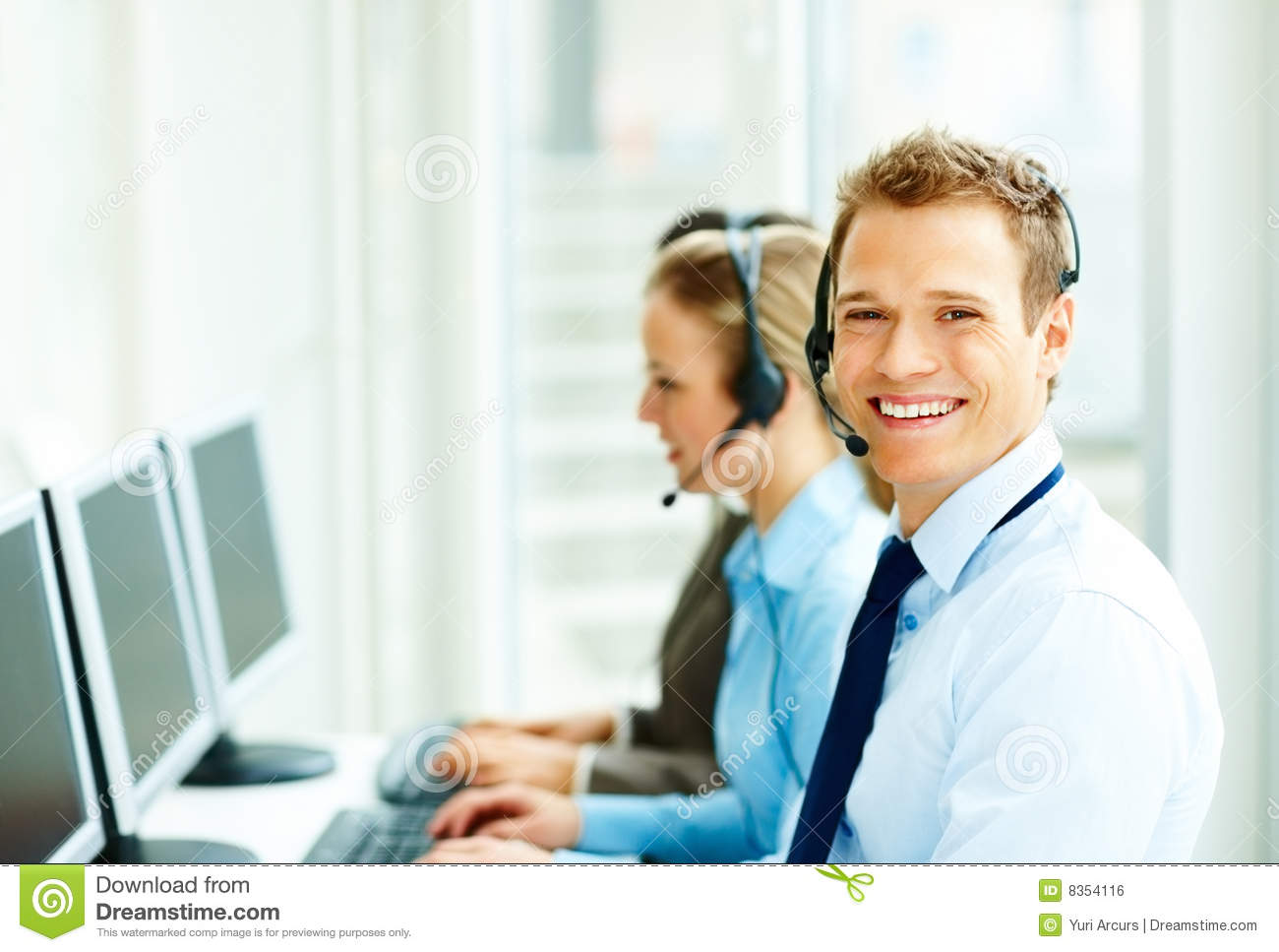 Royalty Free Stock Image: Happy Business people working on ...
