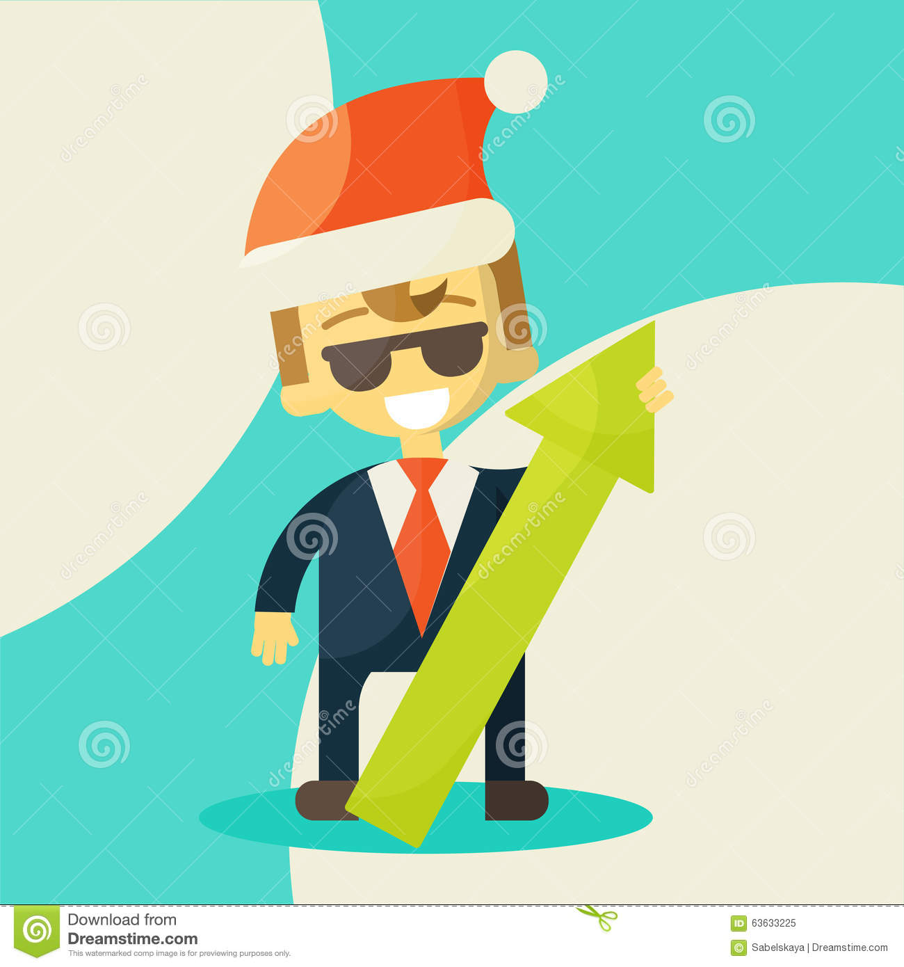 merry christmas and happy new year for your colleagues and partners christmas miracle success in work illustration eps 10