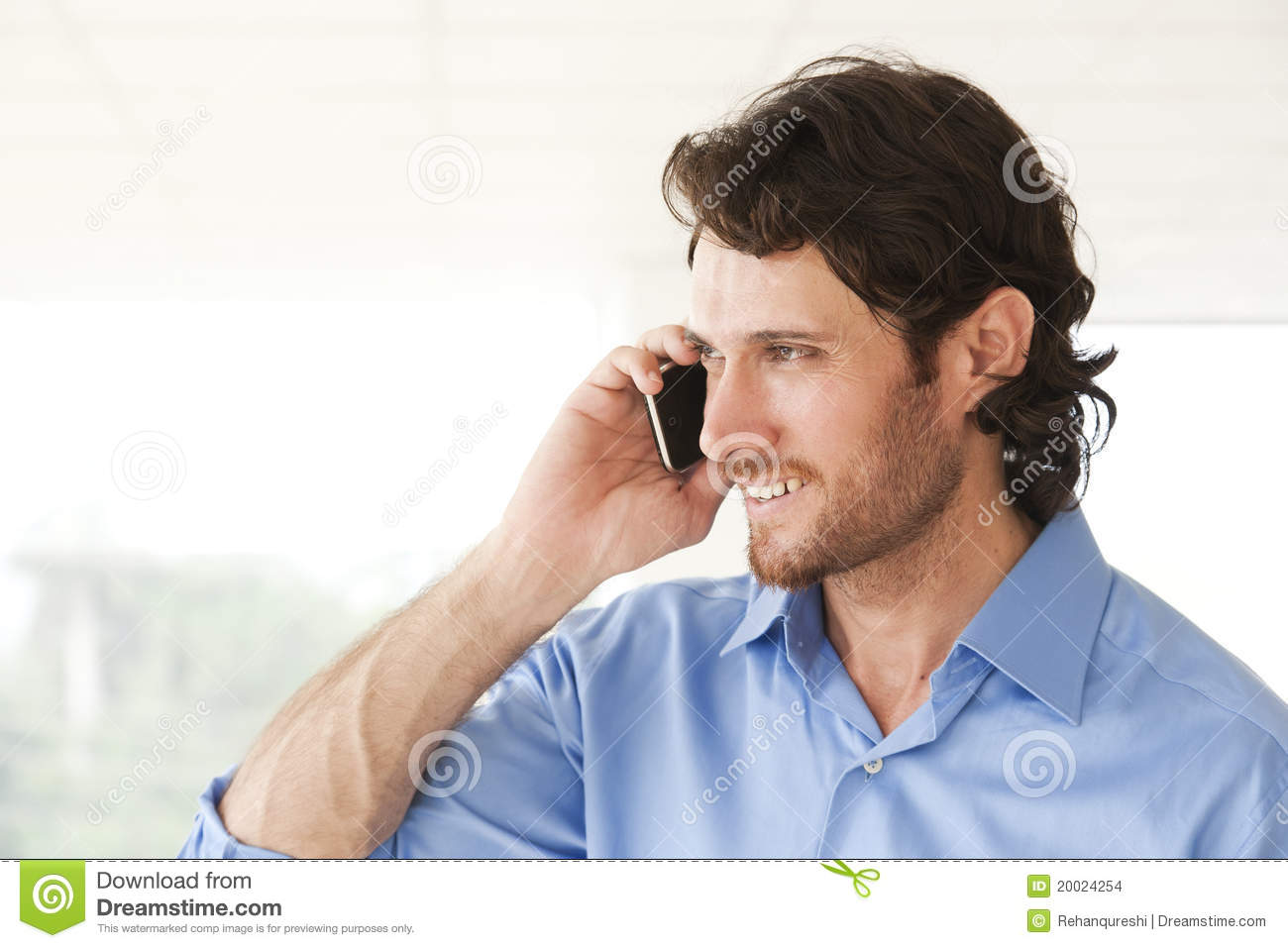 Happy Businessman Talking On Cell Phone Stock Images ...