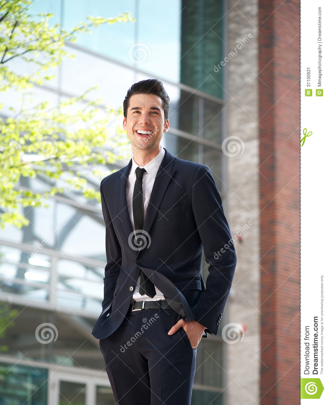 happy businessman walking to work stock image image  happy businessman walking to work