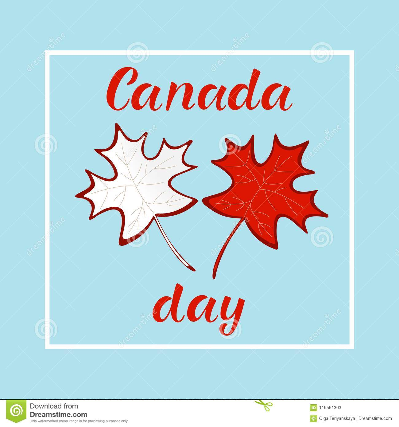 Happy Canada Day Realistic Red Maple Leafs Stock Vector Illustration Of Icon Isolated 119561303