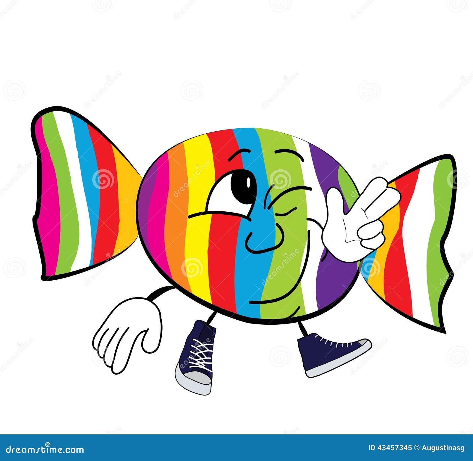 happy candy cartoon stock illustration illustration of white 43457345