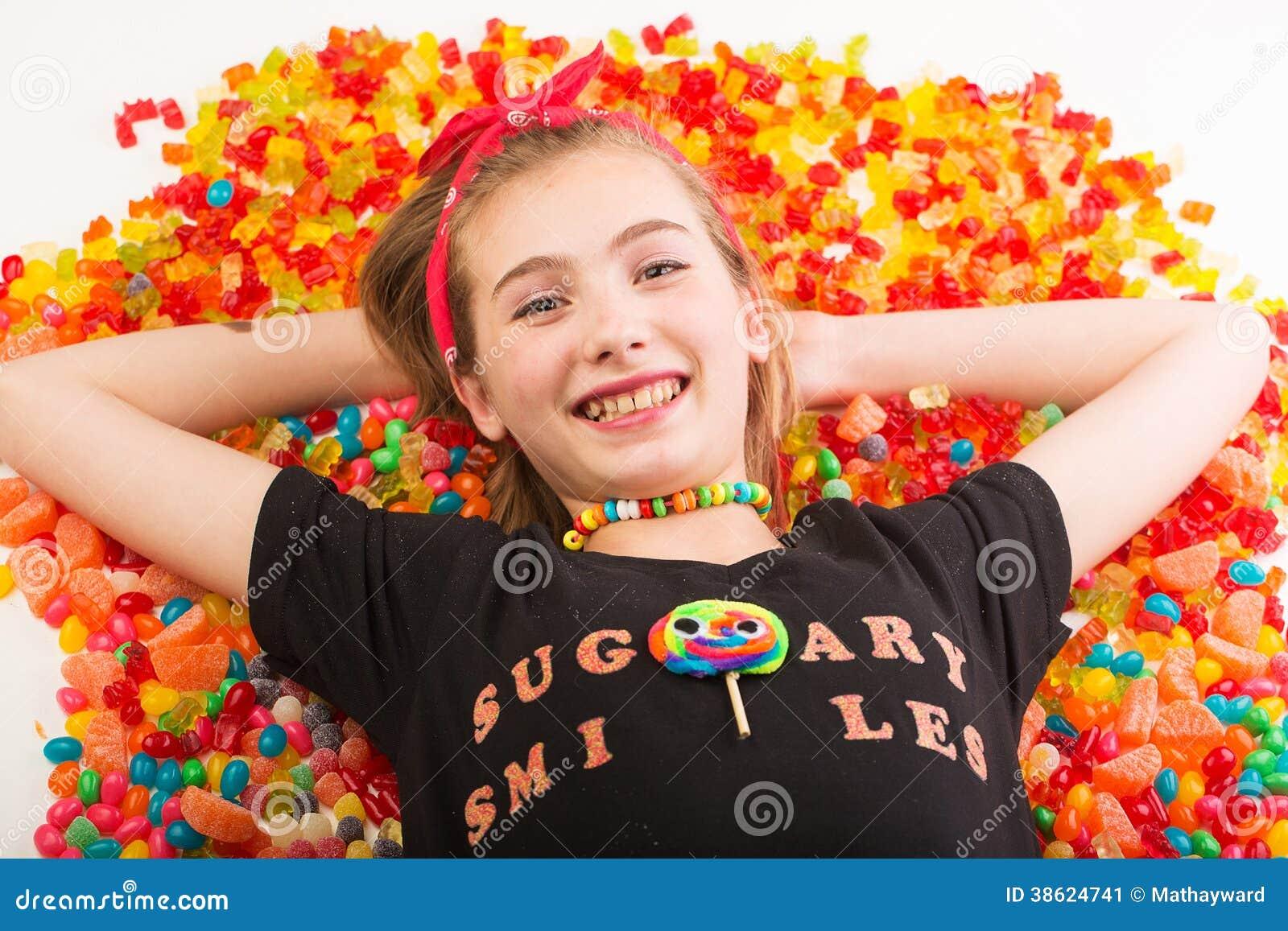 Happy Candy Kid Stock Image Image Of Bulk Dessert Gummi