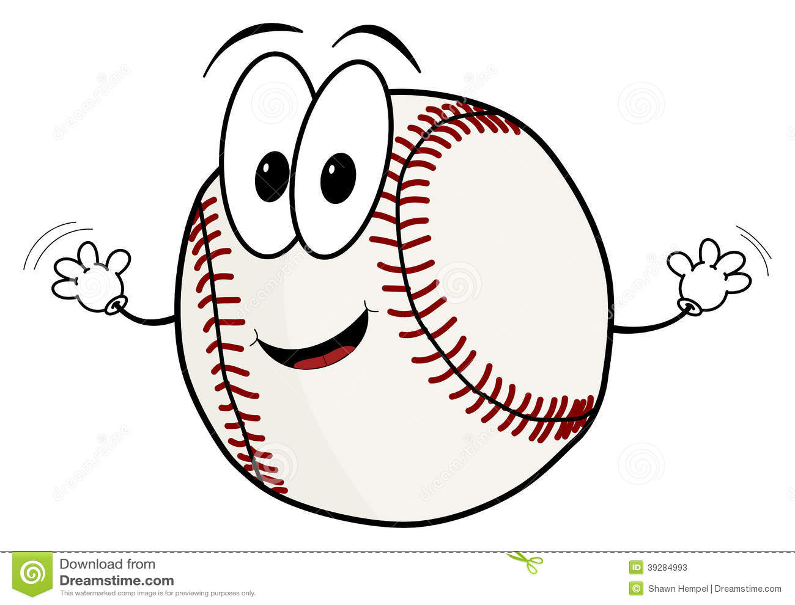 Funny Baseball Clipart