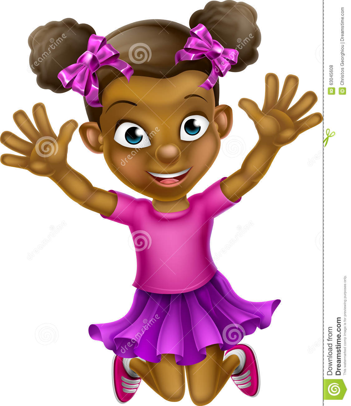 happy cartoon black girl jumping stock vector illustration of afro rh dreamstime com black girl cartoon character tumblr cute black girl cartoon characters