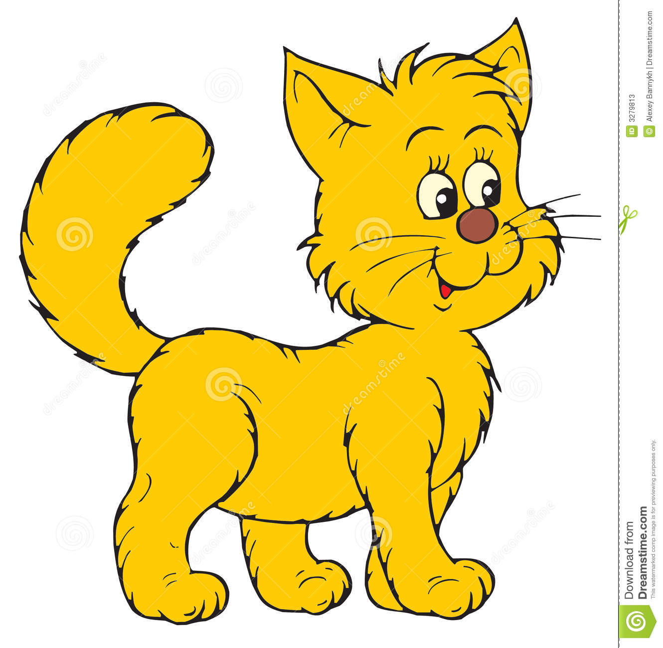 Happy cartoon cat stock vector Image of isolated cartoon