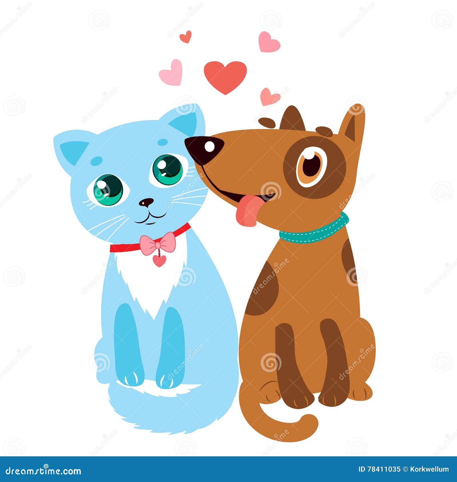 Cat Dog Friendship Stock Illustrations 3 290 Cat Dog Friendship Stock Illustrations Vectors Clipart Dreamstime