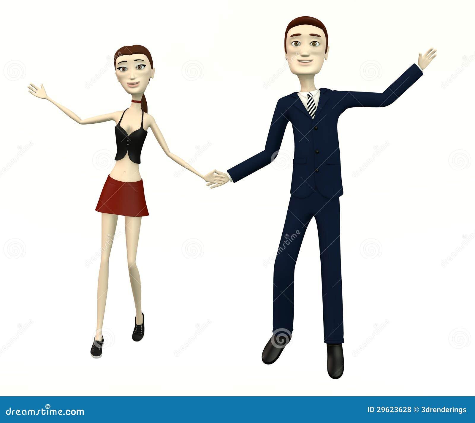dancing cartoon characters