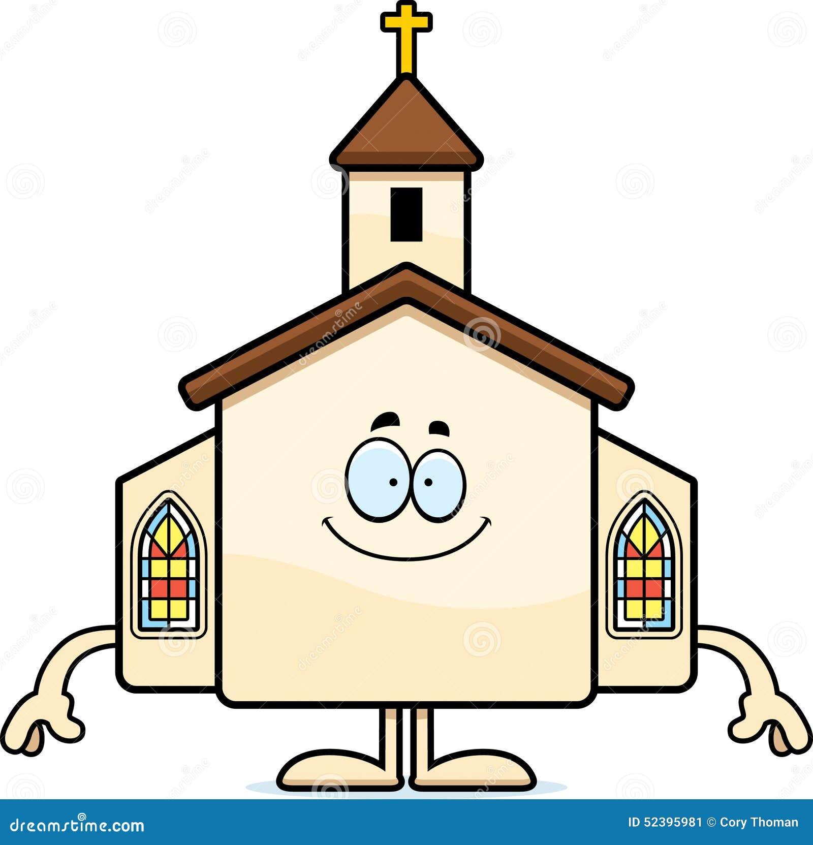 Happy Cartoon Church stock vector. Illustration of ...