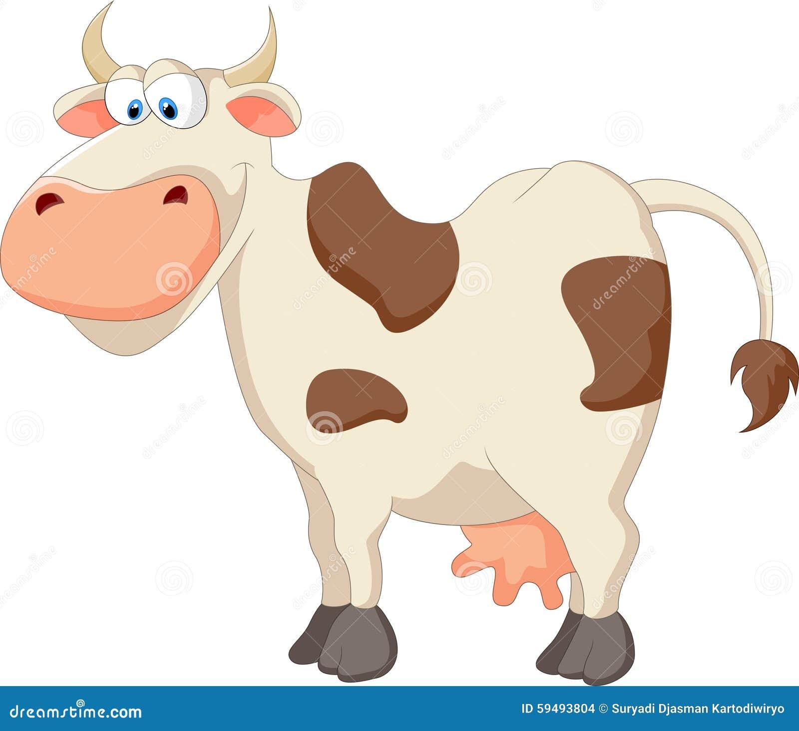 Happy cartoon cow stock vector image
